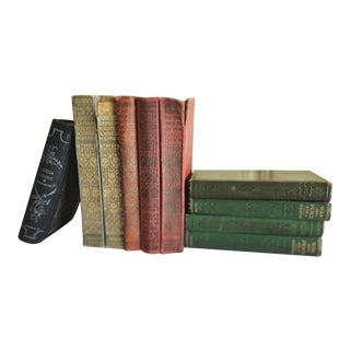 Vintage Collection of Antique Books, Set of Ten For Sale