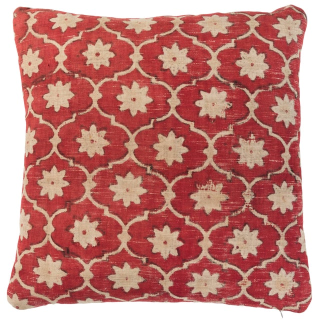 Mid 20th Century Indian Kalamkari Pillow For Sale - Image 5 of 5