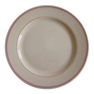 Homer Laughlin Red & Beige Extra Large China Platter For Sale