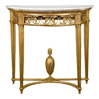 Louis XVI Giltwood Console Table For Sale
