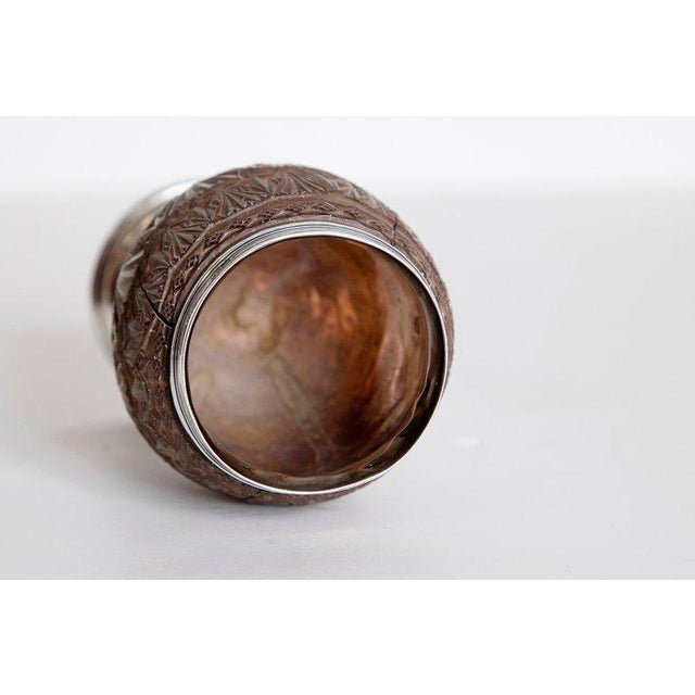 Late 18th Century Geroge III Coconut & Silver Goblet by Charles Hougham For Sale - Image 9 of 13