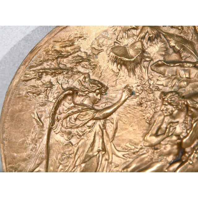 Bronze Plaque with Adam & Eve For Sale - Image 4 of 7