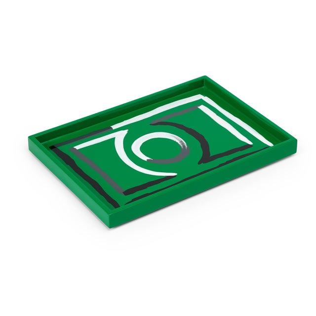 Contemporary Small Etienne Tray in Green - Luke Edward Hall for The Lacquer Company For Sale - Image 3 of 3