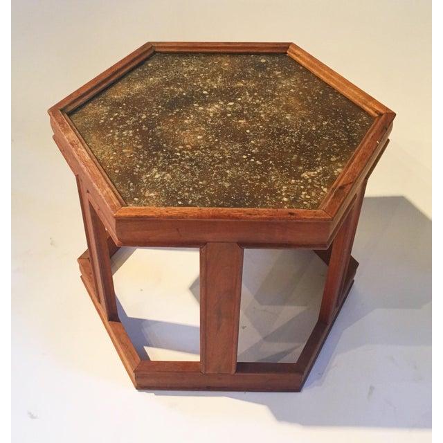 Mid-Century Hexagonal Side Table - Image 3 of 7