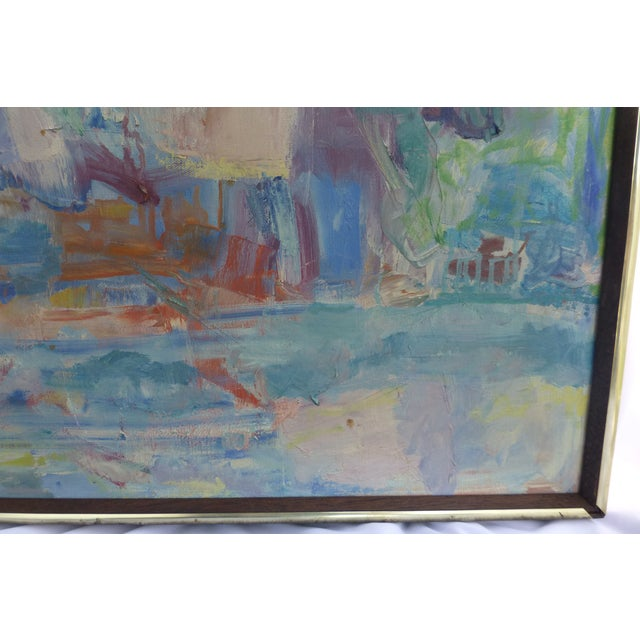 Signed Abstract Oil Painting by Jean Gunther, Listed Artist - Image 5 of 13