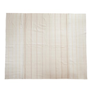 Vintage Flatwoven Carpet - 9' X 11' For Sale