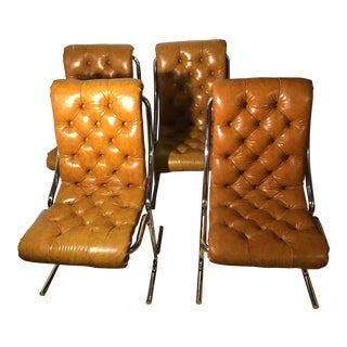 Mid-Century Modern Daystrom Chrome and Vinyl Chairs- Set of 4 For Sale