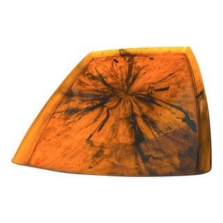 Mid-Century Modern Faux Tortoise Shell Lucite Resin Serving Platter For Sale