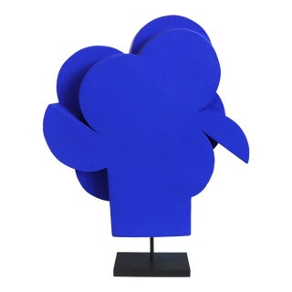 "Abstract Ultramarine Blue Geometric Cubism Sculpture by Billy Criswell ""Hercules"" For Sale"
