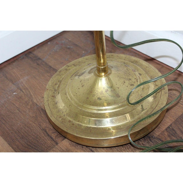 Mid-Century Modern Adjustable Gold Brass Clam Shell Floor Lamp Light - Image 8 of 10