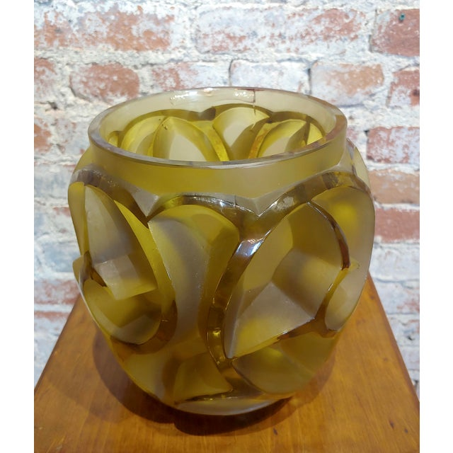 """Renee Lalique No.973 Tourbillons Vase - Umber Glass c.1926 size 8 x 8 x 11"""" Engraved 'R.LALIQUE, FRANCE, No.973 , amber..."""