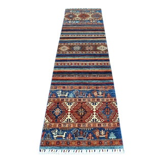 Khorjin Design Colorful Runner Kazak Pure Wool Hand Knotted Rug For Sale
