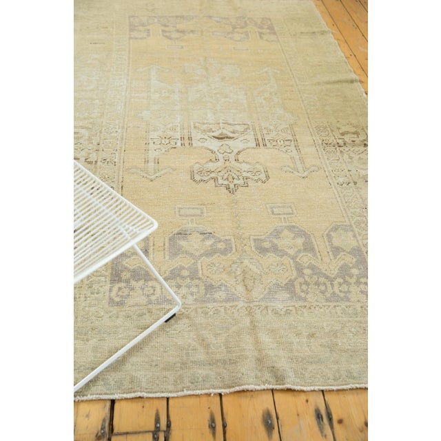 "Blue Vintage Distressed Oushak Carpet - 5'6"" X 9'1"" For Sale - Image 8 of 13"