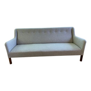 1960s Grey Upholstered Sofa For Sale