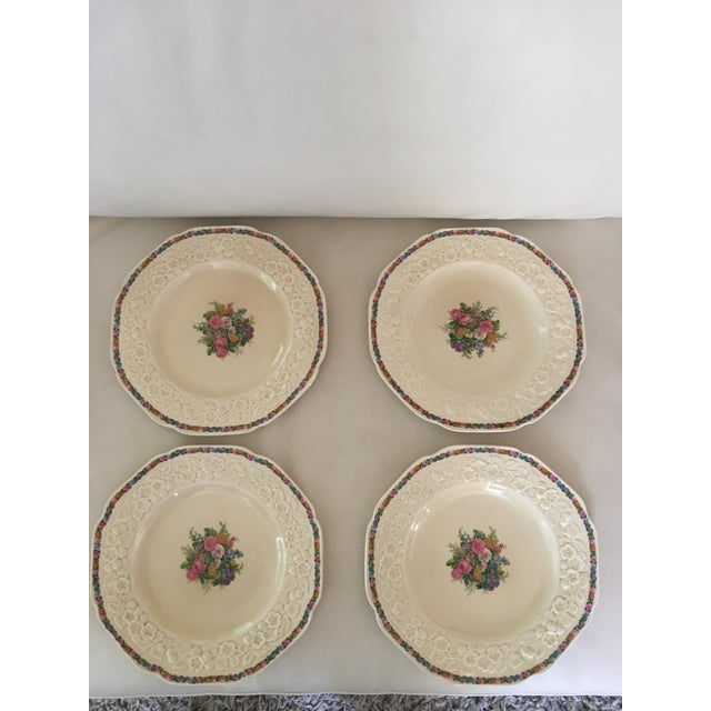 Late 20th Century Crown Ducal Dinner Plates - Set of 4 For Sale - Image 5 of 5