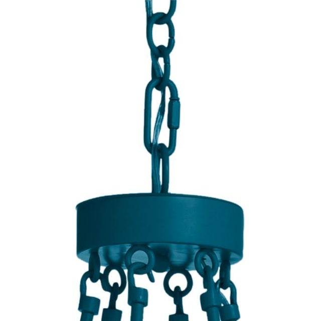 Traditional Camilla Chandelier, Blue Danube with White Shades For Sale - Image 3 of 4