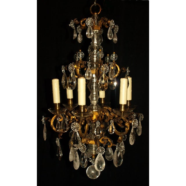 Antique Chandelier. Elegant Louis XV Chandelier For Sale In Atlanta - Image 6 of 7