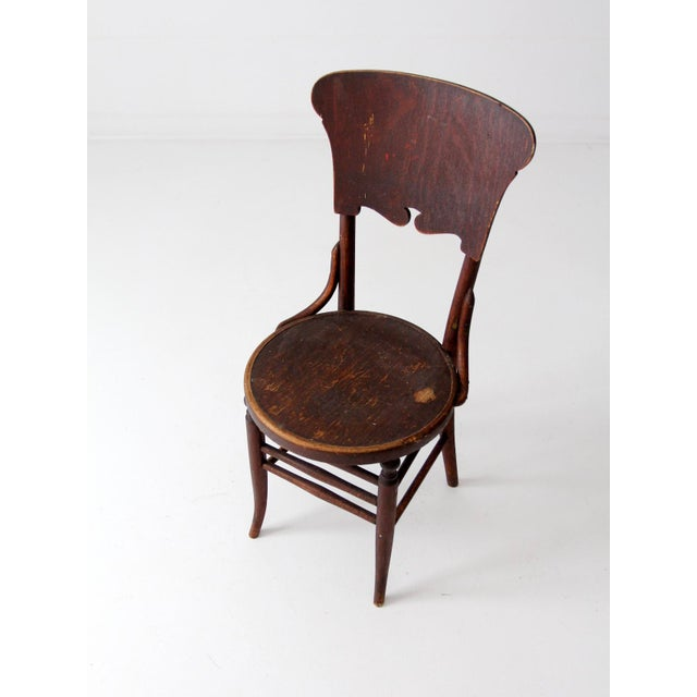Antique Round Seat Chair For Sale - Image 6 of 8