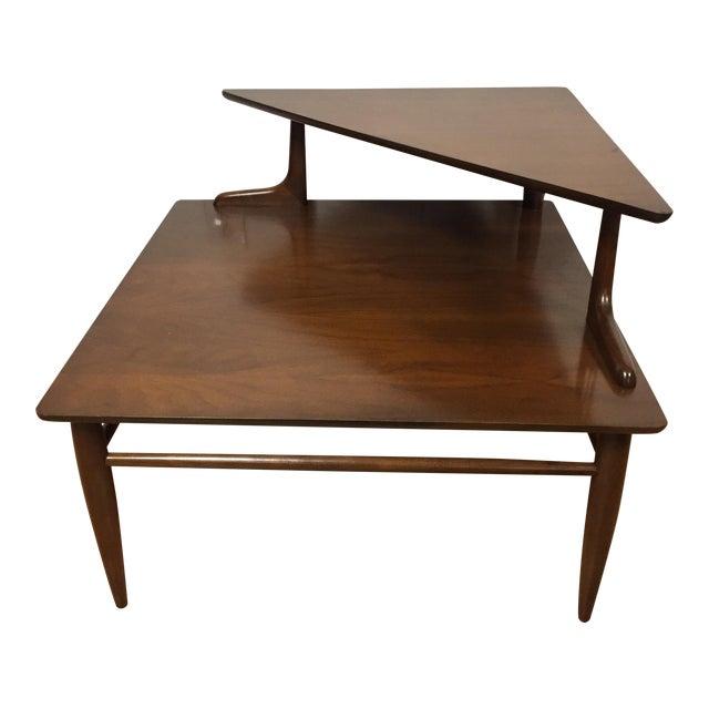 MidCentury Modern Walnut Corner Table Chairish - Mid century modern corner table
