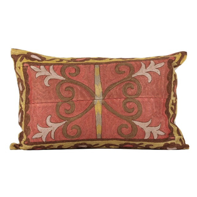 Vintage Embroidered Accent Pillow - Image 1 of 4