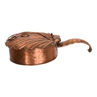 Art Deco Silent Butler Box Flip-Top Crumb Catcher 1960s Gregorian Copper For Sale