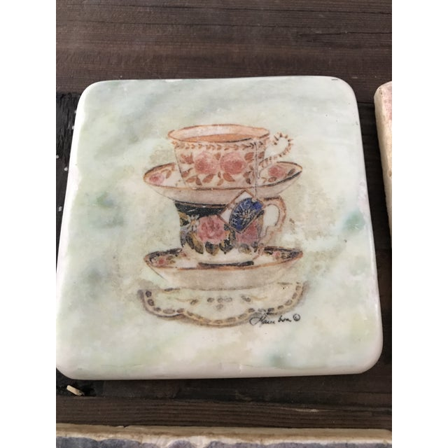 Pictorial Ceramic Coasters - Set of 4 - Image 4 of 6