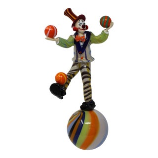 Murano Glass Clown For Sale