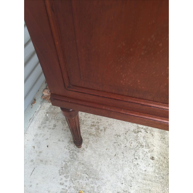 Vintage French Marble-Top Nailhead Trim Dresser - Image 5 of 9