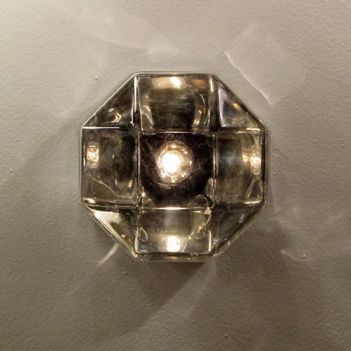 1970s Motoko Ishii for Staff Leuchten Modulare Chrome and Glass Light For Sale - Image 5 of 10