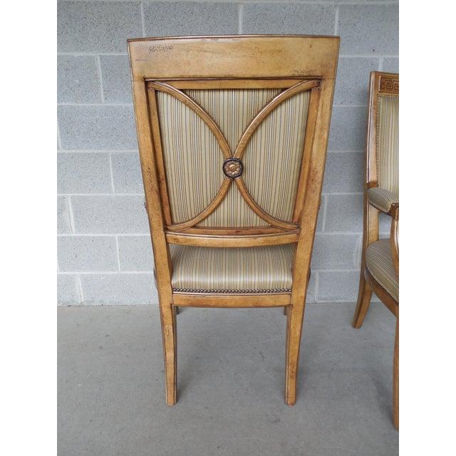 Ferguson Copeland Neoclassical Regency Style Chairs - Set of 8 - Image 8 of 11