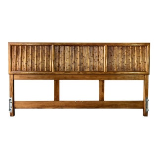 Vintage Century Furniture Pencil Rattan King Headboard For Sale