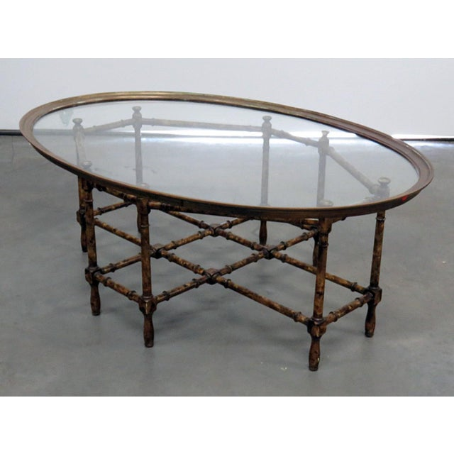 Faux Bamboo Tray Top Table For Sale In Philadelphia - Image 6 of 6