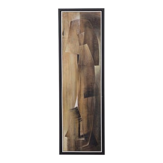 A Long Abstract Oil Painting by Hans Richter For Sale