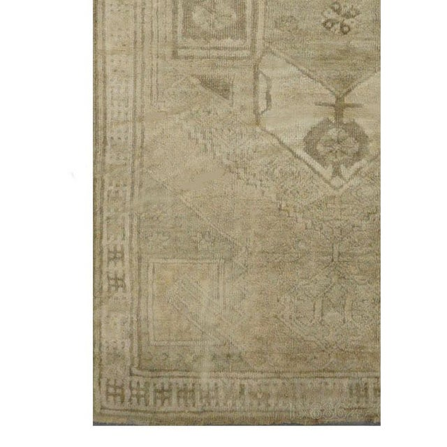 Vintage Turkish Oushak Rug - 4'1''x10'11'' - Image 3 of 4