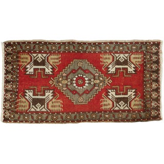 "Vintage Oushak Rug - 1'10"" X 3'5"" For Sale"