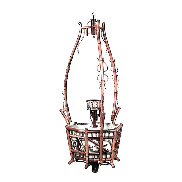 English Victorian Bamboo Hanging Fernery/Planter For Sale