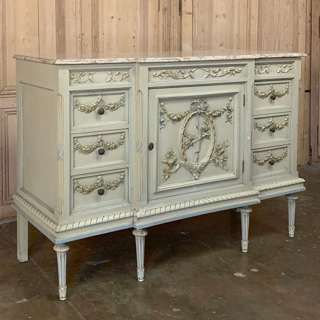 Antique Italian Louis XVI Painted Dresser ~ Linen Press was designed for the bedroom, but can just as easily serve as a...