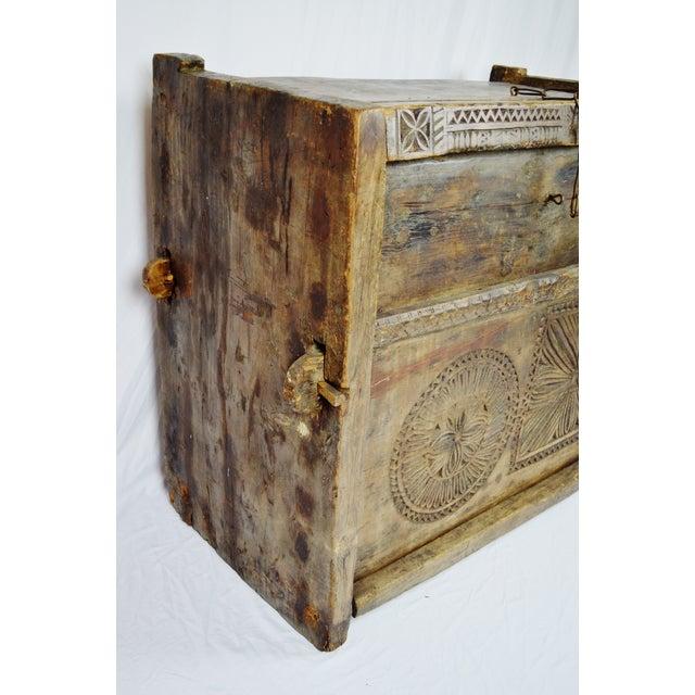 Ancient Kafiristan Wooden Dowry/Treasure Chest - Image 6 of 10