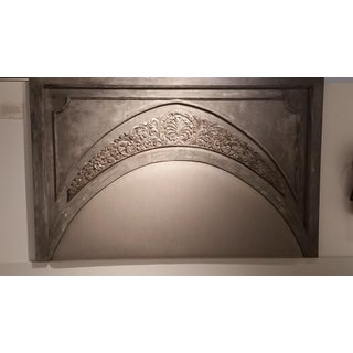 Gray Hand Carved Arch Headboard Preview