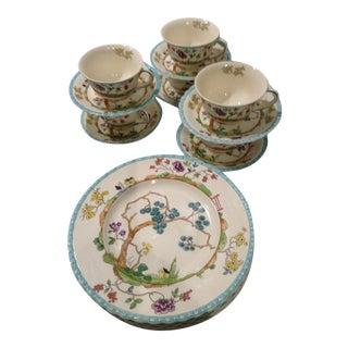 Staffordshire Myott Canton Dinnerware Luncheon Set - 18 Piece Set For Sale