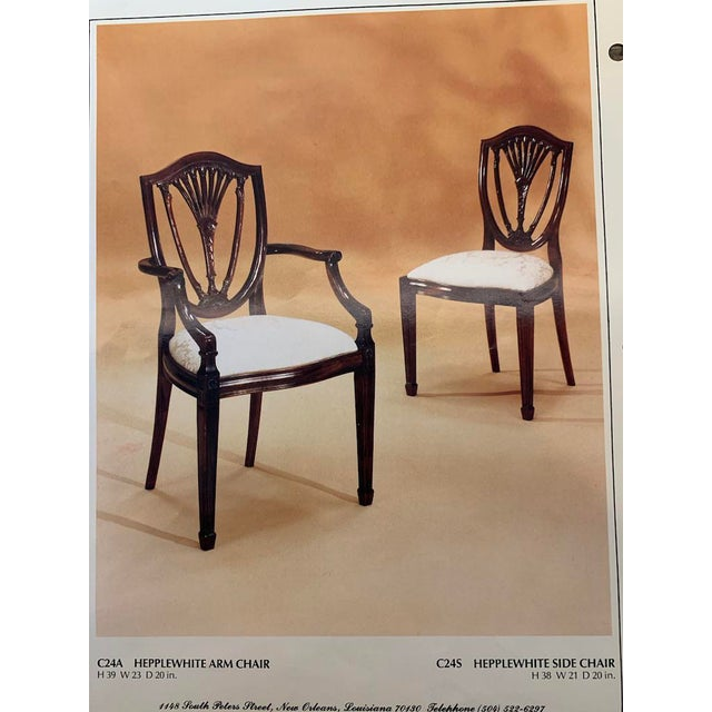 Hepplewhite Style Dining Chairs- Set of 10 For Sale - Image 12 of 13