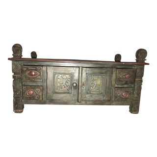 20th Century African Carved Chest For Sale
