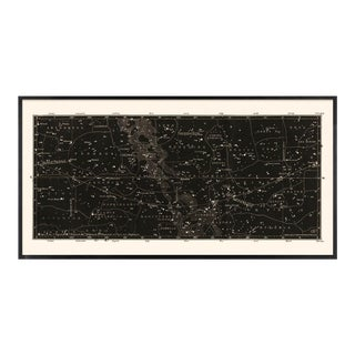 Black Star Map in Custom Black Frame For Sale