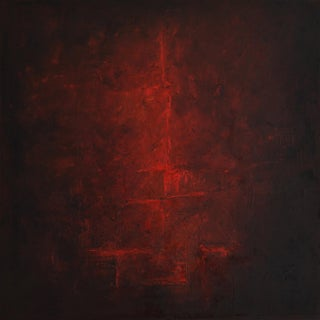"""""""Crevices 2"""" Contemporary Abstract Expressionist Oil Painting For Sale"""