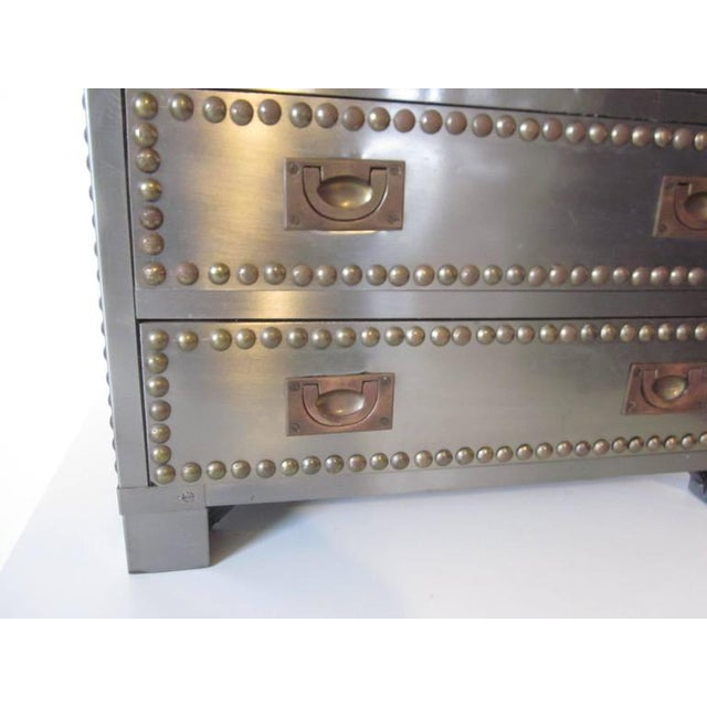 Stainless and brass Studded Jewelry Box For Sale In Cincinnati - Image 6 of 8