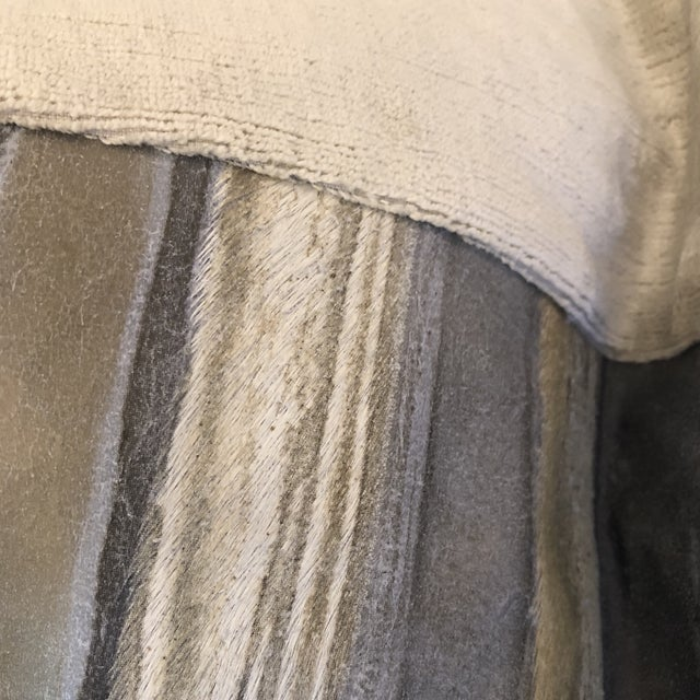 """Moore & Giles """"Valentino"""" Leather 22"""" Pillows-A Pair For Sale - Image 4 of 8"""
