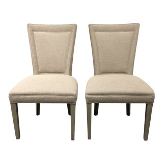 New Hickory Chair Flare Back Side Chairs - a Pair For Sale