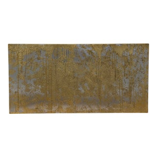 Brass and Nickel Abstract Painting by Local Palm Springs Artist For Sale