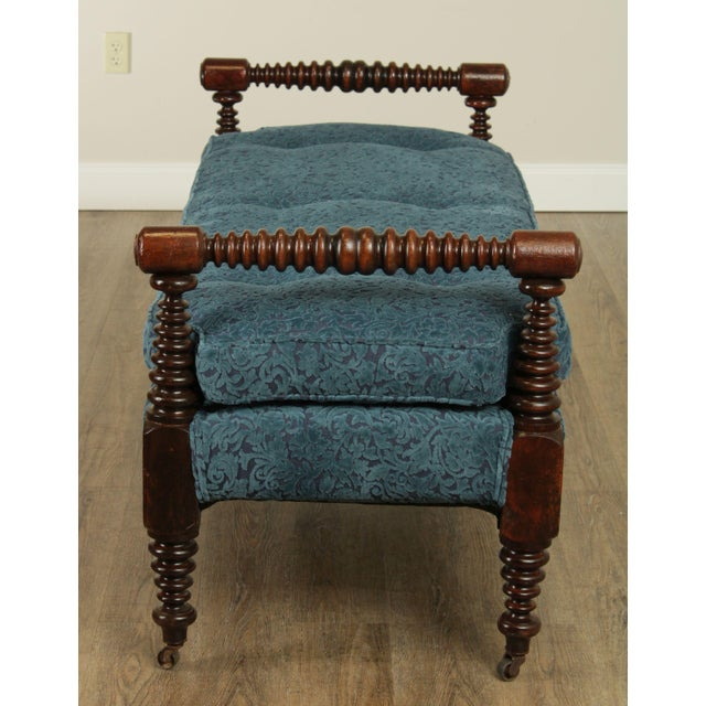 Antique 19th Century Bobbin Turned End of Bed or Window Bench For Sale In Philadelphia - Image 6 of 13