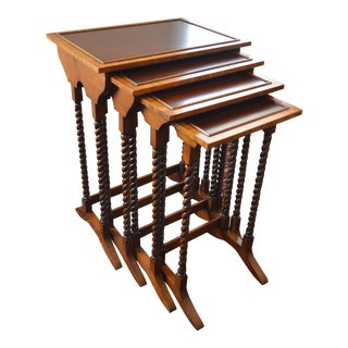 Traditional Walnut Nesting Tables - Set of 4 For Sale